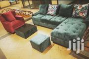 Sofa Set, Glass Centre Table and a Pouf. | Furniture for sale in Central Region, Kampala
