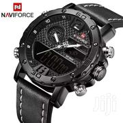 Leather Strapped Digital And Analog Watch   Watches for sale in Central Region, Kampala