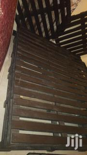 Black Bed Made Out Of Pallets   Furniture for sale in Central Region, Kampala