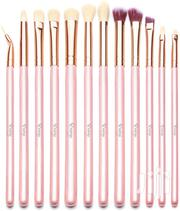 Quvange Eyeshadow Brush Set 12pcs Pink With Gold) | Makeup for sale in Central Region, Kampala