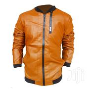 Long Sleeve Leather Jacket - Brown | Clothing for sale in Central Region, Kampala