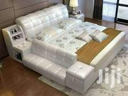 White Leather Bed | Furniture for sale in Central Region, Kampala