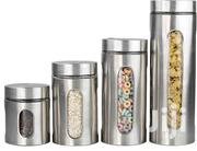 Deluxe 4 Pc Stainless Steel Canister With Glass Window | Kitchen & Dining for sale in Central Region, Kampala