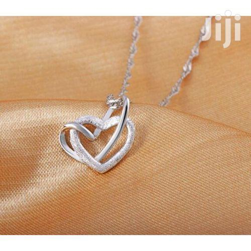 Double Heart Necklace | Jewelry for sale in Kampala, Central Region, Uganda